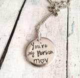 You're my person - Best friends necklace - You're - Queen Bunnybee's Gifts