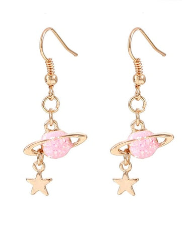 Awesome Planet & Star Drop Earrings - Queen Bunnybee's Gifts