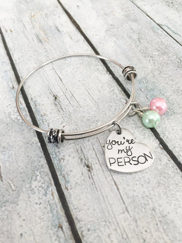 You're my person - Best friends bracelet - You're - Queen Bunnybee's Gifts