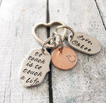 Teacher gift - Hand stamped keychain - Teacher - Queen Bunnybee's Gifts