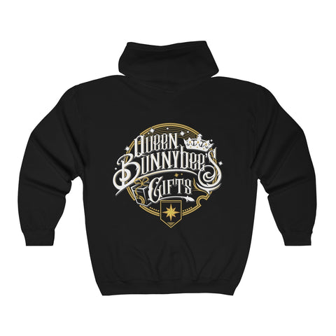 Unisex Heavy Blend™ Full Zip Hooded Sweatshirt Ships From USA - Queen Bunnybee's Gifts