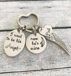Memorial keychain - loss of loved one - Hand - Queen Bunnybee's Gifts
