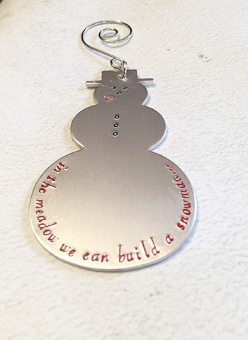Hand stamped ornament - Chritmas ornament - - Queen Bunnybee's Gifts
