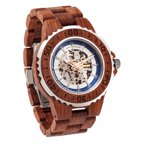 Men's Genuine Automatic Kosso Wooden Watches - Queen Bunnybee's Gifts
