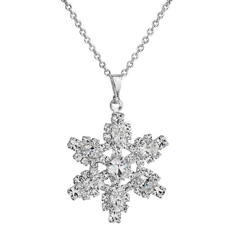 Snowflake Necklace - Queen Bunnybee's Gifts