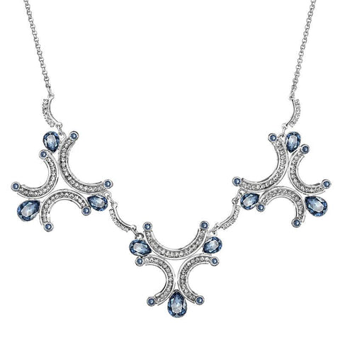 Rhodium Crystal Necklace - Queen Bunnybee's Gifts