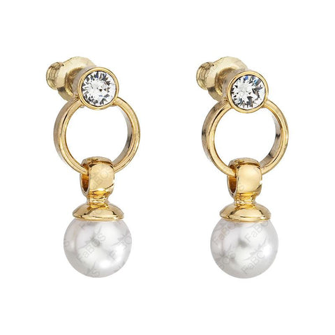 Gold Earrings with Pearl - Queen Bunnybee's Gifts