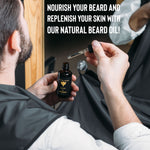 Grooming Kit For Men - Beard Trimmer, Oil, Comb - Queen Bunnybee's Gifts