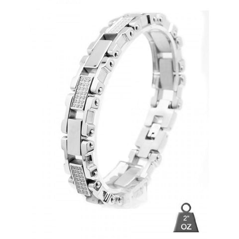 Stainless Steel bracelet with CZ 8008-1 - Queen Bunnybee's Gifts
