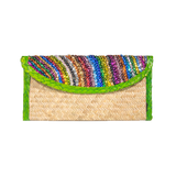 Handmade Maxi Clutch with Sequin Stripes, Green - Queen Bunnybee's Gifts