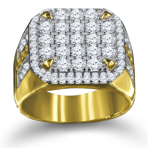 Gold Plated 925 Silver Men's Ring 929172 - Queen Bunnybee's Gifts