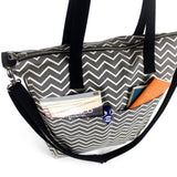 Aria Reversible Messenger: Ash Chevron - Queen Bunnybee's Gifts