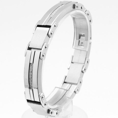 Stainless Steel bracelet with CZ B80131 - Queen Bunnybee's Gifts