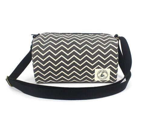 Ellie Crossbody: Ash Chevron - Queen Bunnybee's Gifts