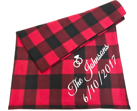 Custom Couples Blanket - Names & Date - Queen Bunnybee's Gifts