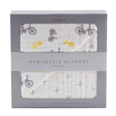 Vintage Bicycle and North Star Newcastle Blanket - Queen Bunnybee's Gifts