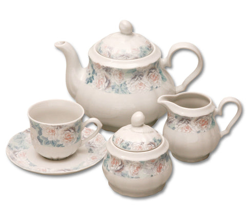 Rose Tea Set - flower - Queen Bunnybee's Gifts