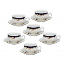 Set of 6 tea / coffee Set cups with saucers - Queen Bunnybee's Gifts