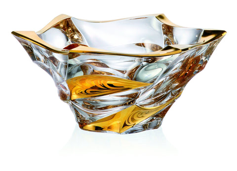 GOLD Crystal Glass Bowl - Queen Bunnybee's Gifts
