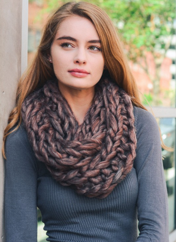 Ultra-Soft Copper Chunky Infinity Scarf - Queen Bunnybee's Gifts