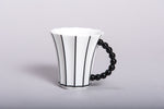 Retro Style Porcelain Cup with Stripes l 12oz - Queen Bunnybee's Gifts