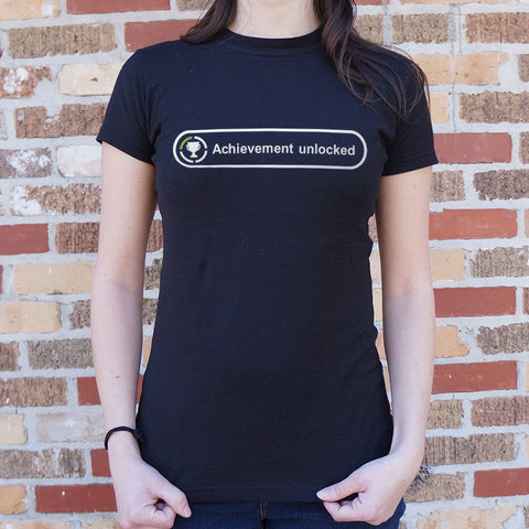 Achievement Unlocked T-Shirt (Ladies) - Queen Bunnybee's Gifts