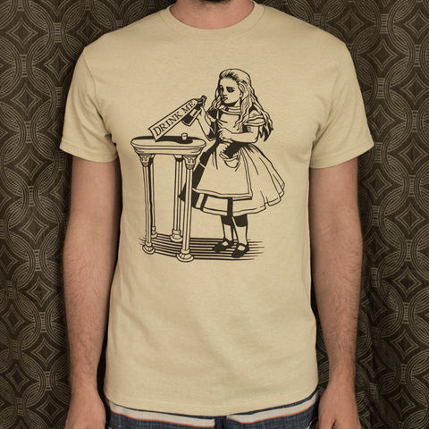Alice Drink Me T-Shirt (Mens) - Queen Bunnybee's Gifts