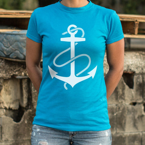 Anchors Aweigh T-Shirt (Ladies) - Queen Bunnybee's Gifts