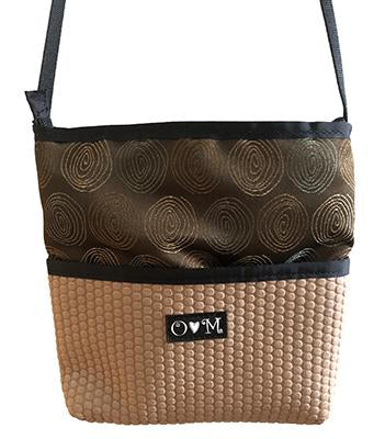 Bernie Tan Circles Geometric Crossbody Purse - Queen Bunnybee's Gifts