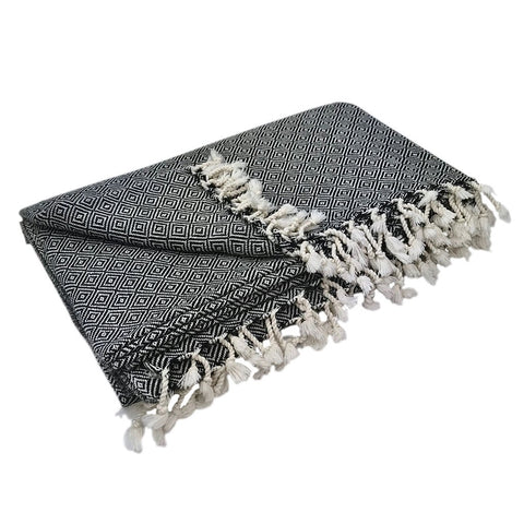 Diamond Turkish Throw Blanket - Queen Bunnybee's Gifts