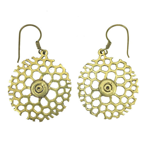Honeycomb Bomb Earrings - Queen Bunnybee's Gifts