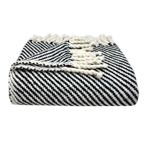 Chunky Black Stripe Alpaca Throw - Queen Bunnybee's Gifts