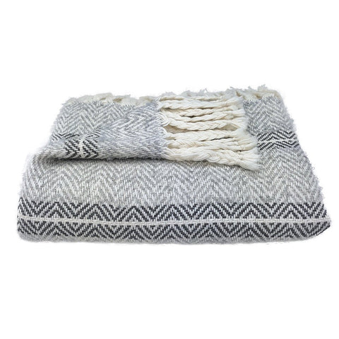 Chevron Braided Alpaca Throw - Queen Bunnybee's Gifts