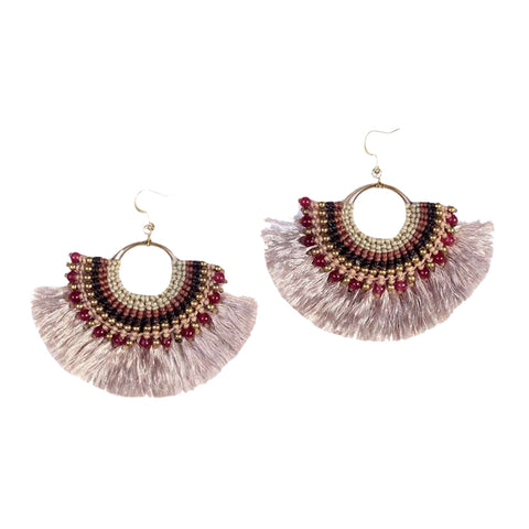 Beaded Fan Earrings - Queen Bunnybee's Gifts