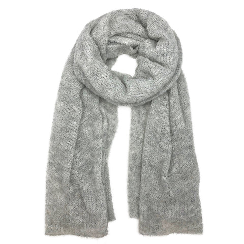 Gray Ultra Plush Alpaca Scarf - Queen Bunnybee's Gifts