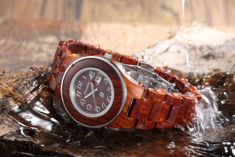 Women's Natural Rosewood Wooden Watch - Queen Bunnybee's Gifts