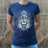 Ganesh Deity T-Shirt (Ladies) - Queen Bunnybee's Gifts