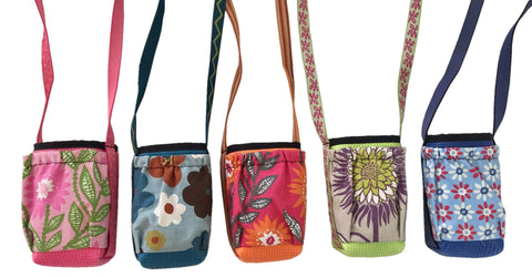 Water Bottle Holder With Pocket Floral Print - Queen Bunnybee's Gifts