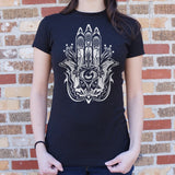 Hamsa Hand Symbol T-Shirt (Ladies) - Queen Bunnybee's Gifts