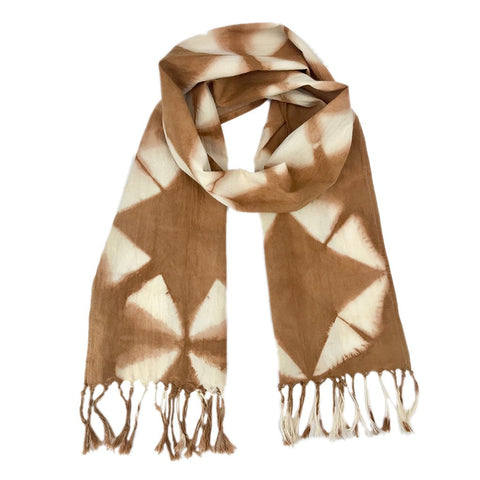 Sustainable Almond Tie Dyed Scarf - Queen Bunnybee's Gifts