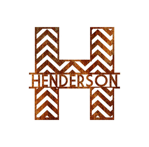 Chevron Monogram - Queen Bunnybee's Gifts
