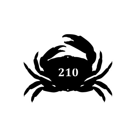 Crab Silhouette Address Sign - Queen Bunnybee's Gifts