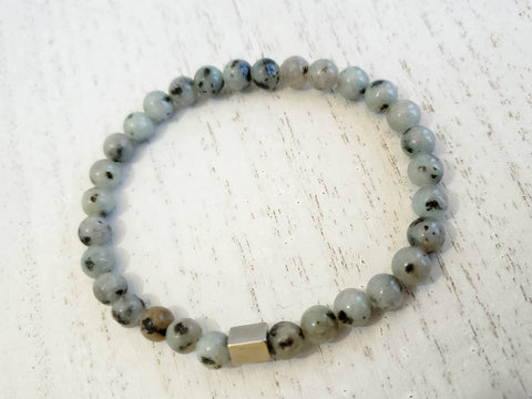 Grey Stretchy Bracelet - Queen Bunnybee's Gifts