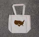 Texas- cotton canvas natural tote bag - Queen Bunnybee's Gifts