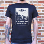 I Want To Believe T-Shirt (Mens) - Queen Bunnybee's Gifts