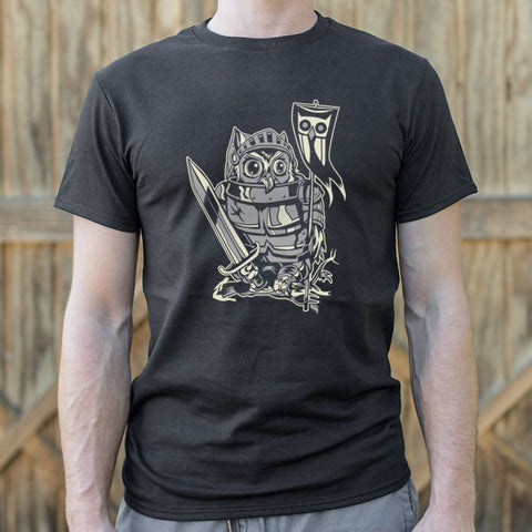 Knight Owl T-Shirt (Mens) - Queen Bunnybee's Gifts