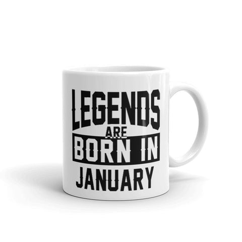 Legends Are Born In January Coffee Mug - Queen Bunnybee's Gifts