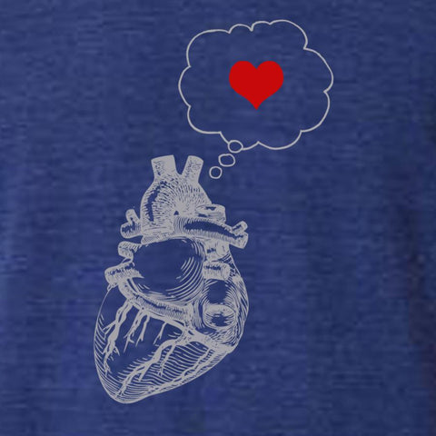 Mens heart thinking heart - Queen Bunnybee's Gifts