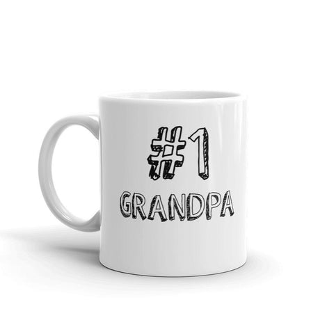 #1 Grandpa Coffee Mug - Queen Bunnybee's Gifts