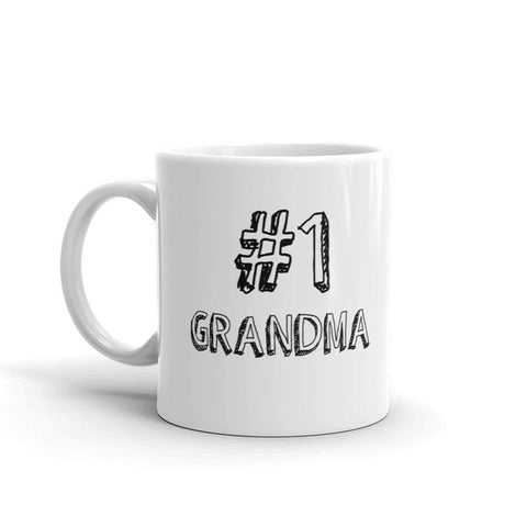#1 Grandma Coffee Mug - Queen Bunnybee's Gifts